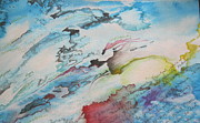 Watercolor Pastels Originals - Pleasure and Pain by Carrie Maurer