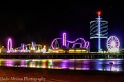 Long Exposure Metal Prints - Pleasure Pier Metal Print by Dado Molina