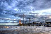 Roller Coaster Posters - Pleasure Pier Galveston Poster by Shawn Everhart