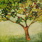 Tree Painting Prints - Plein Air Garden Series No 8 Print by Jennifer Lommers