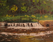 Patrick Paintings - Plein air Oil Painting Valley Creek by Patrick ODriscoll