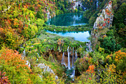 Artur Framed Prints - Plitvice Lakes in Croatia Framed Print by Artur Bogacki