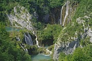 Plitvice Lakes In Croatia Print by Rudi Prott