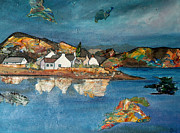 Abstracted Painting Posters - Plockton Poster by Jacki Wright