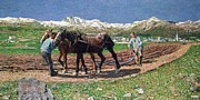 Monaco Art - Ploughing by Giovanni Segantini 