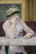 Drunk Paintings - Plum Brandy by Edouard Manet