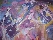 Ballet Dancers Paintings - Plum Sugar Fairies by Judith Desrosiers