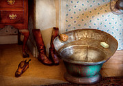 Boots Photos - Plumber - Bath Day by Mike Savad