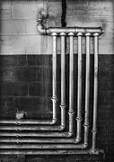 Factory Photos - Plumbing Symmetry by Susan Candelario