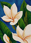 Original Paintings - Plumeria  by Darice Machel McGuire