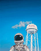Astronaut Paintings - Pluto by Scott Listfield