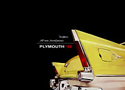 Plymouth Car Framed Prints - Plymouth 56 Framed Print by Mark Rogan