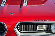 Muscle Car Framed Prints - Plymouth Barracuda Grille Emblem Framed Print by Jill Reger