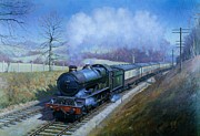Steam Train Paintings - Plymouth bound. by Mike  Jeffries