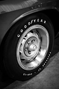 Rally Metal Prints - Plymouth Cuda Rallye Wheel Metal Print by Paul Velgos