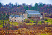 Stone House Digital Art Prints - Plymouth Farm Print by Bill Cannon