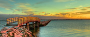 Plymouth Harbor Prints - Plymouth Harbor Jetty Print by Jack Costello