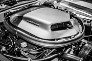Motor Metal Prints - Plymouth Hemi Cuda Engine Shaker Hood Scoop Metal Print by Paul Velgos