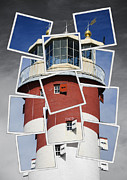 Don S Davis Framed Prints - Plymouth Hoe Lighthouse Framed Print by Donald Davis