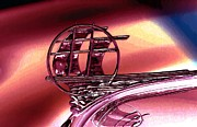 Big 3 Digital Art Prints - Plymouth Hood Ornament Print by John Madison