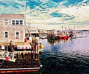 Plymouth Harbor Prints - Plymouth MA Print by Carol Sutherland