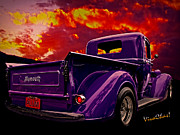 Street Rod Art - Plymouth Pickup Plum by Chas Sinklier