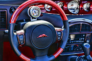 Prowler Photos - Plymouth Prowler Steering Wheel by Paul Ward