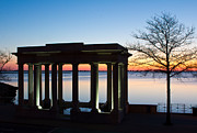 Plymouth Harbor Prints - Plymouth Rock Portico  Print by Kelly Carey