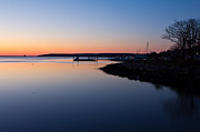 Plymouth Harbor Prints - Plymouth Waterfront at Dawn Print by Kelly Carey