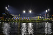 Pnc Park Prints - PNC at night. Print by Jimmy Taaffe