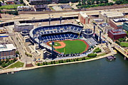 Pittsburgh Pirates Posters - PNC Park Aerial 2 Poster by Mattucci Photography
