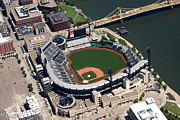 Pnc Framed Prints - PNC Park Aerial Framed Print by Mattucci Photography