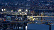 Pnc Park Prints - PNC Park Print by Mike Vosburg
