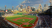 Pnc Park Digital Art Framed Prints - PNC Park Pittsburgh Framed Print by Gary Cain