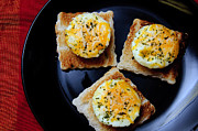 Hunger Prints - Poached Eggs On A Raft Print by Andee Photography