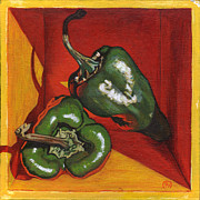 Pepper Paintings - Poblano by Paige Wallis