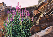 Realistic Landscape Paintings - Pocket of Color by Sharon Freeman