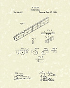 Ruler Posters - Pocket Rule 1885 Patent Art  Poster by Prior Art Design