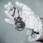 Hand Photo Posters - Pocket Watch Poster by Joana Kruse