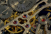 Watch Parts Prints - Pocket Watch Mechanism Print by Gary Cain