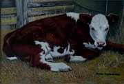Calf Pastels - Poddy Calf by Sandra Sengstock-Miller