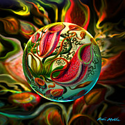 Spheres Digital Art - Pods Der Natur  by Robin Moline