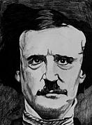Edgar Drawings Posters - Poe Poster by Jeremy Moore