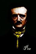 Mustache Digital Art Posters - Poe Poster by Wingsdomain Art and Photography