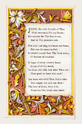 Plaque Drawings Prints - Poem. Jesus the very thought of Thee... Print by Pierpont Bay Archives