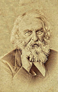 Longfellow Prints - Poet Longfellow Print by Roger Bailey