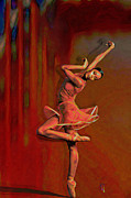Ballet Art Digital Art Prints - Poetry In Motion Print by Byron Fli Walker