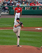 Redsox Prints - Poetry in Motion-Jon Lester Print by Tom Prendergast