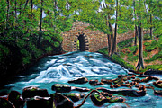 Civil Paintings - Poinsett Bridge I by Andrew Wells