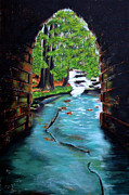 Civil Paintings - Poinsett Bridge II by Andrew Wells